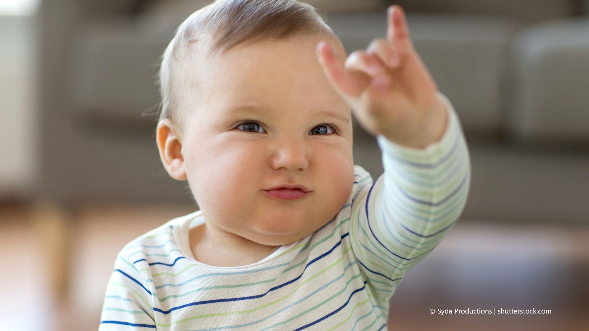 Schon kleine Kinder können die Handzeichen der GuK lernen.